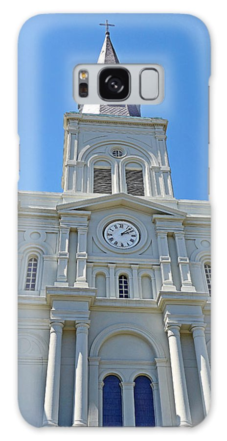 St. Louis Cathedral Galaxy S8 Case featuring the photograph St. Louis Cathedral Study 1 by Robert Meyers-Lussier