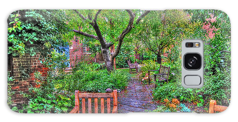 Greenwich Village Galaxy S8 Case featuring the photograph St. Luke Garden Sanctuary by Randy Aveille