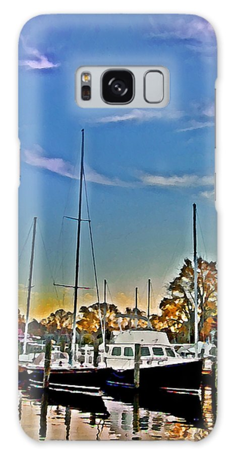 St. Michael's Galaxy S8 Case featuring the photograph St. Michael's Marina On The Chesapeake by Bill Cannon