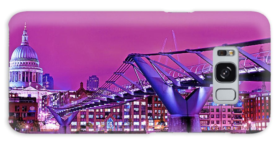 St Galaxy S8 Case featuring the photograph St Pauls And Millennium Bridge Over The River Thames by Chris Smith