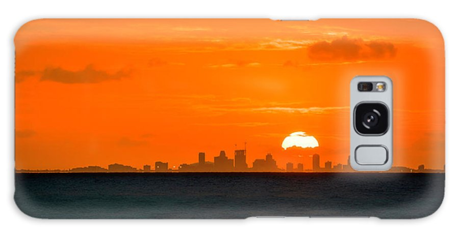 Sunset Galaxy Case featuring the photograph St. Pete Fireball by Marvin Spates