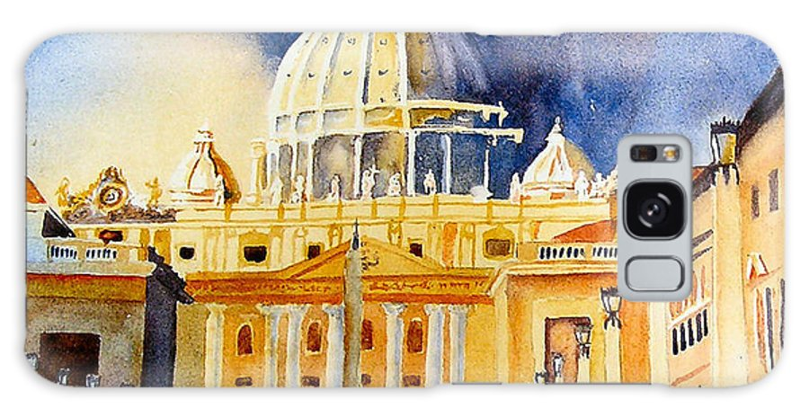 Vatican Galaxy S8 Case featuring the painting St. Peters Basilica by Karen Stark
