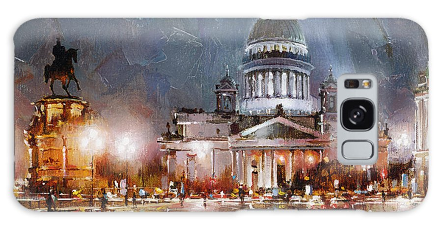 St. Petersburg Skyline Galaxy S8 Case featuring the painting St. Petersburg.isaac Square by Ramil Gappasov