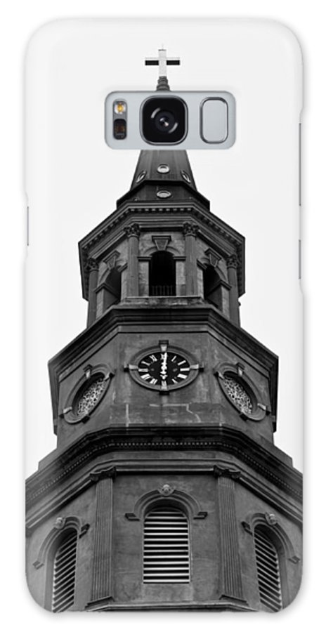 St. Joseph's Church Steeple Downtown Charleston South Carolina Lowcountry Black White Dustin Ryan Galaxy S8 Case featuring the photograph St. Philips Church Steeple by Dustin K Ryan