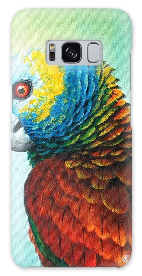 Chris Cox Galaxy S8 Case featuring the painting St. Vincent Parrot by Christopher Cox