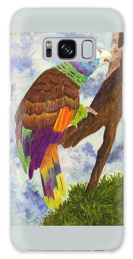 Birds Galaxy S8 Case featuring the painting St. Vincent Parrot by Michael Vigliotti