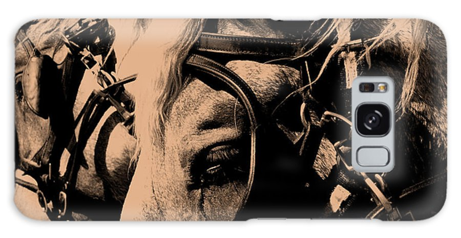 Horse Galaxy Case featuring the photograph Stage Coach Horses by Wayne Potrafka