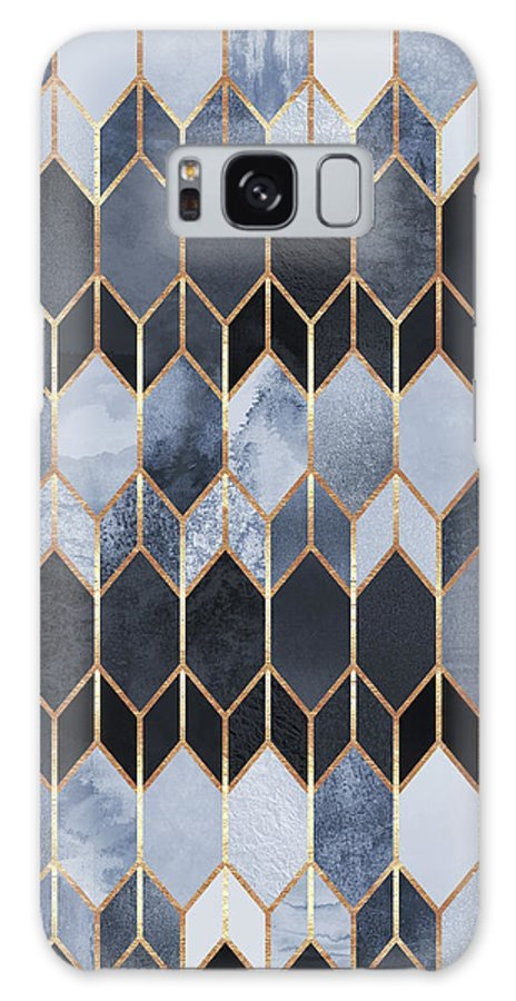 Graphic Galaxy Case featuring the digital art Stained Glass 4 by Elisabeth Fredriksson