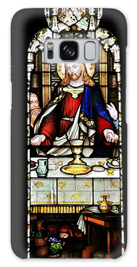 Stained Galaxy S8 Case featuring the photograph Stained Glass Window Last Supper Saint Giles Cathedral Edinburgh Scotland by Christine Till