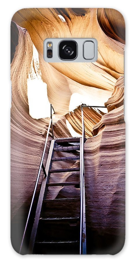 Canyon Galaxy S8 Case featuring the photograph Stairs From Chaos by Scott Sawyer
