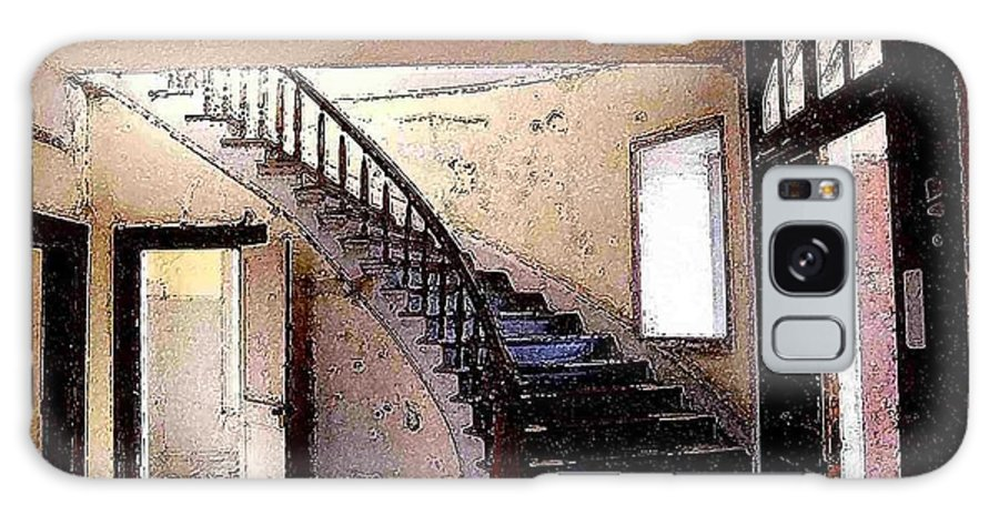 Meade Hotel Galaxy S8 Case featuring the photograph Stairway - Meade Hotel - Bannack Mt by Nelson Strong