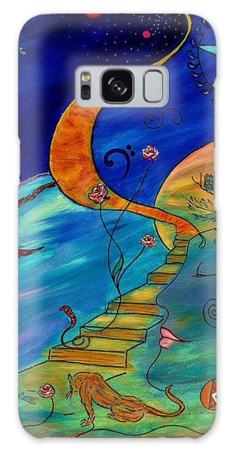 Symbolic Galaxy S8 Case featuring the painting Stairway To Nirvana by Robin Monroe