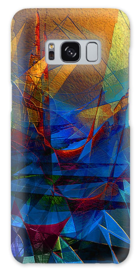 Abstract Galaxy S8 Case featuring the digital art Stairway Upon Grail Passeges by Stephen Lucas