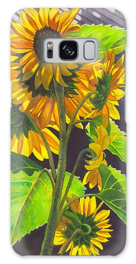 Sunflowers Galaxy S8 Case featuring the painting Stalk Of Sunflowers by Catherine G McElroy