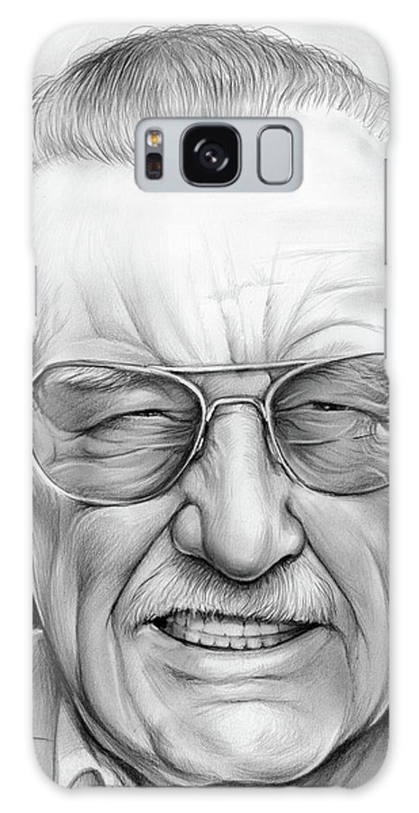 4f4cedb1 Stan Lee Galaxy S8 Case featuring the drawing Stan Lee by Greg Joens