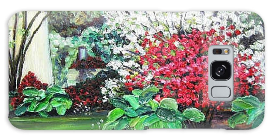 Blossoms Galaxy S8 Case featuring the painting Stanely Park Blossoms by Richard Nowak