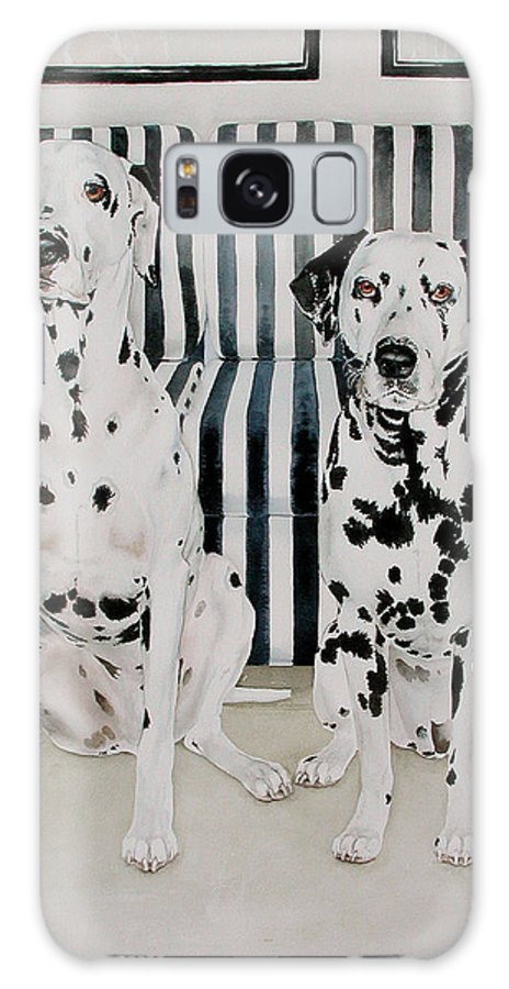 Portrait Galaxy Case featuring the painting Stanley And Stelle by Eileen Hale
