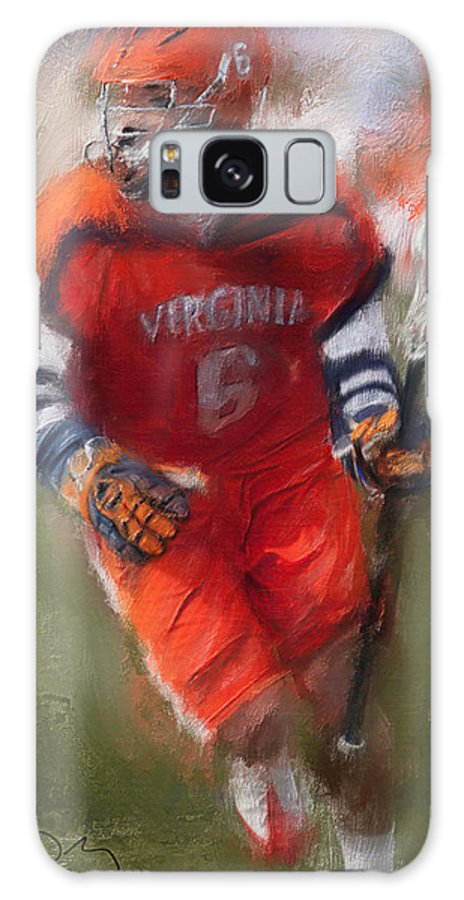 Lacrosse Galaxy S8 Case featuring the painting Stanwick Lacrosse 3 by Scott Melby
