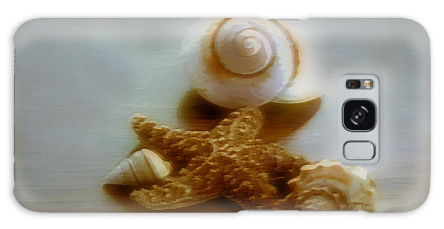 Beach Art Galaxy S8 Case featuring the photograph Star And Shells by Linda Sannuti