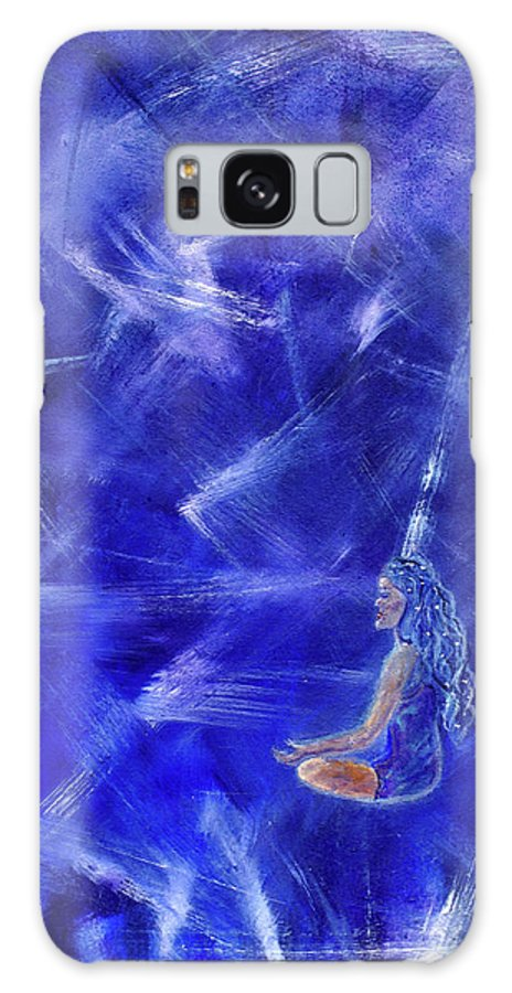 Meditation Galaxy S8 Case featuring the painting Star Burst by The Art With A Heart By Charlotte Phillips