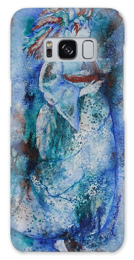 Abstract Galaxy S8 Case featuring the painting Star Dancer by Jean Blackmer