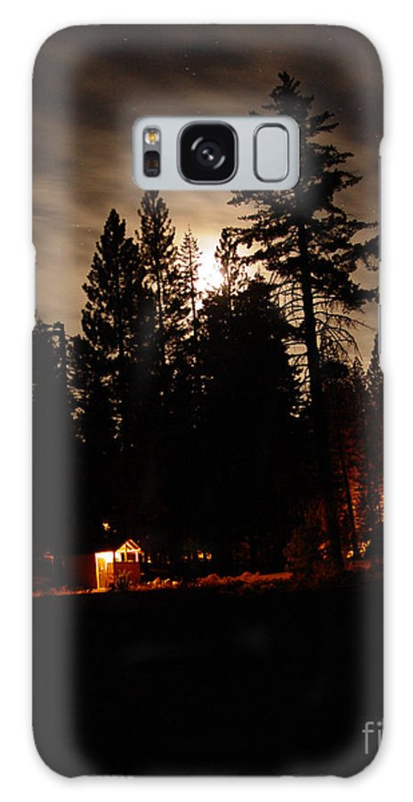Moonlight Galaxy S8 Case featuring the photograph Star Lit Camp by Peter Piatt