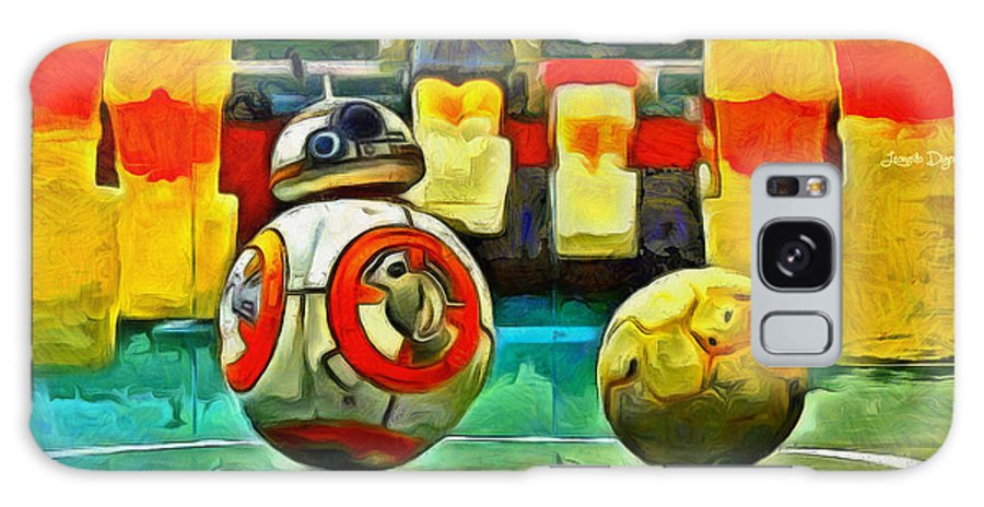 Ball Galaxy S8 Case featuring the painting Star Wars Brothers - Pa by Leonardo Digenio