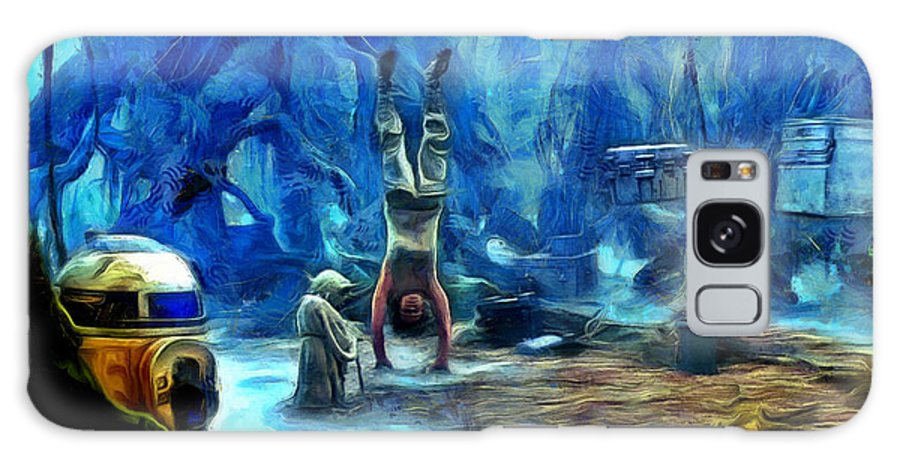 Star Wars 7 Galaxy Case featuring the painting Star Wars Training Body And Mind by Leonardo Digenio