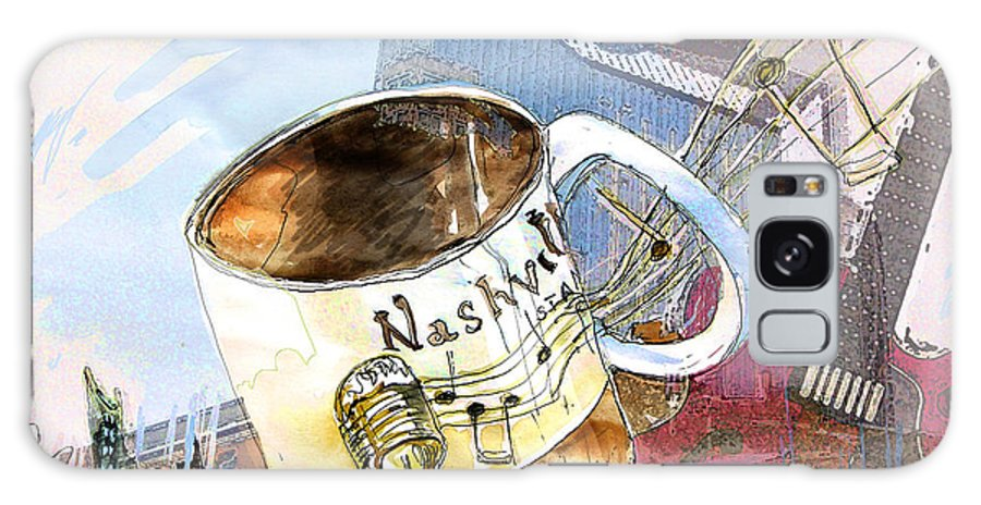 Mugs Galaxy S8 Case featuring the painting Starbucks Mug Nashville by Miki De Goodaboom