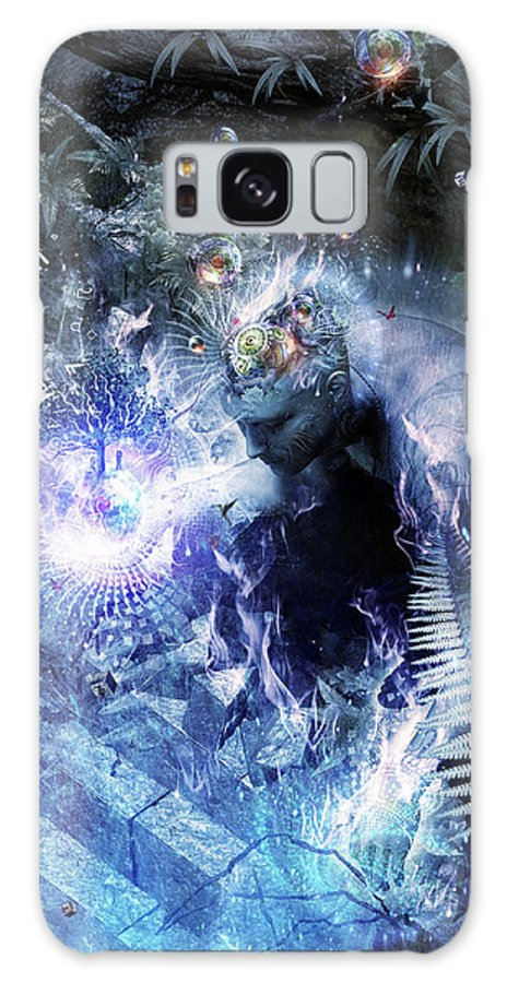 Cameron Gray Galaxy Case featuring the digital art Stardust by Cameron Gray