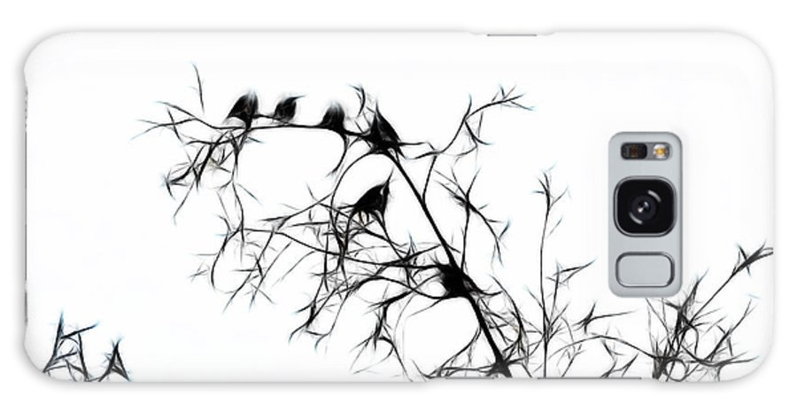 Bird Galaxy S8 Case featuring the photograph Starlings by Lawrence Christopher