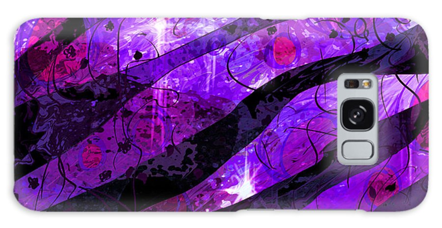 Abstract Galaxy S8 Case featuring the digital art Starry Eyed And Black Lace by Rachel Christine Nowicki