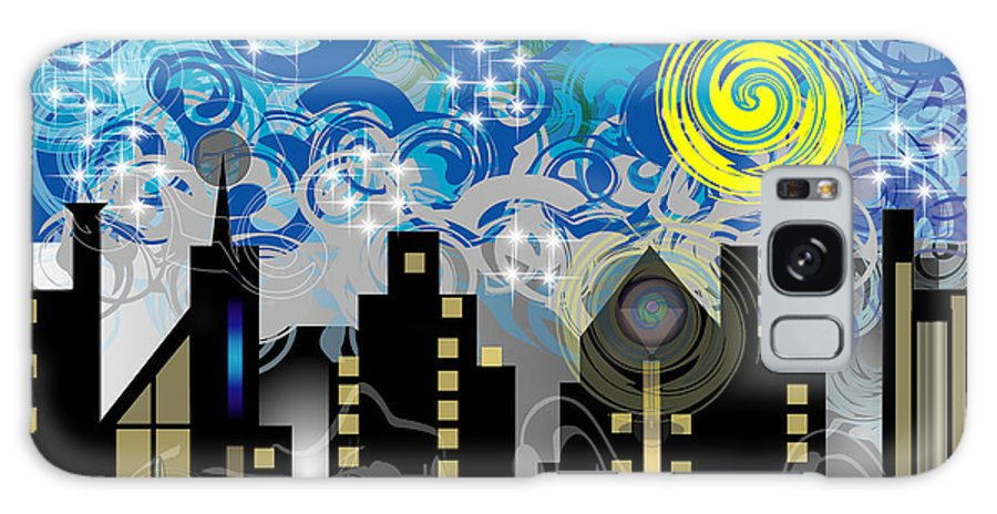 Jazz Galaxy Case featuring the digital art Starry Night by George Pasini
