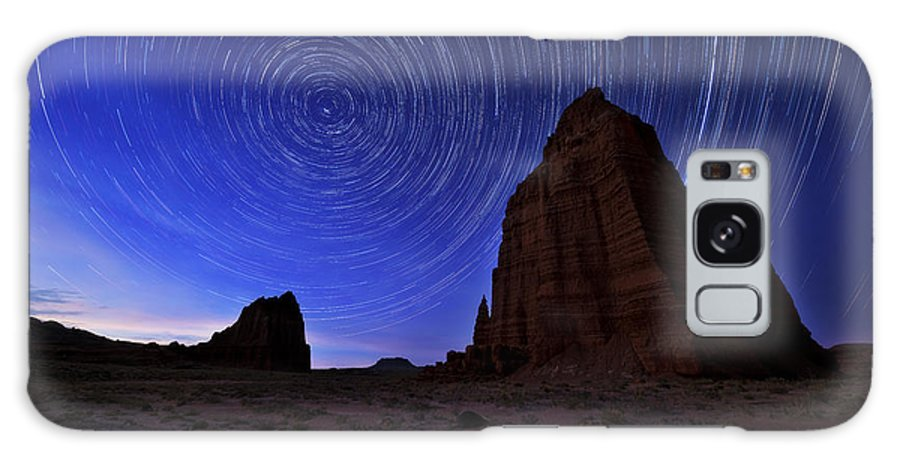 Stars Above The Moon Galaxy S8 Case featuring the photograph Stars Above The Moon by Chad Dutson
