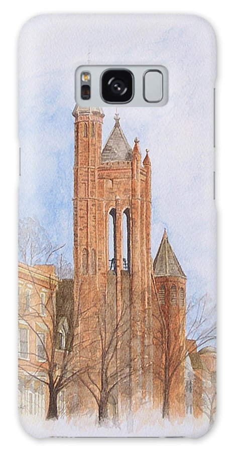 Gothic Galaxy Case featuring the painting State Street Church by Dominic White