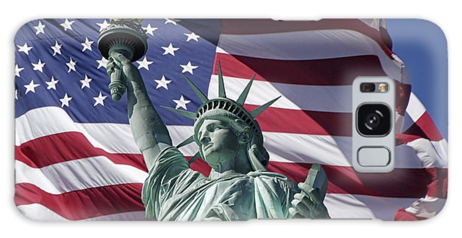 America Galaxy S8 Case featuring the photograph Statue Of Liberty New York by Juergen Held