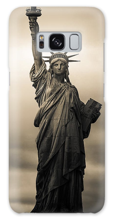 Statue Of Liberty Galaxy S8 Case featuring the photograph Statute Of Liberty by Tony Castillo