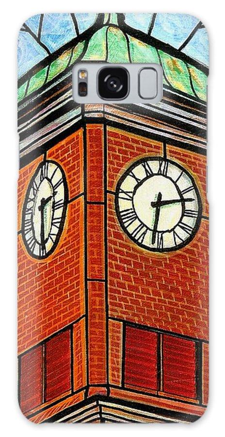 Clocks Galaxy S8 Case featuring the painting Staunton Clock Tower Landmark by Jim Harris