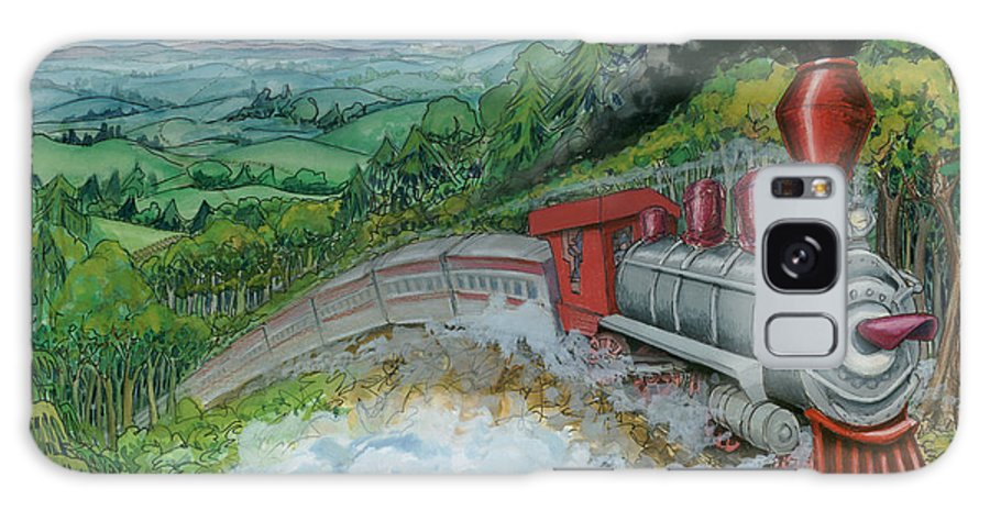 Train Galaxy S8 Case featuring the painting Steam Train by Kevin Middleton