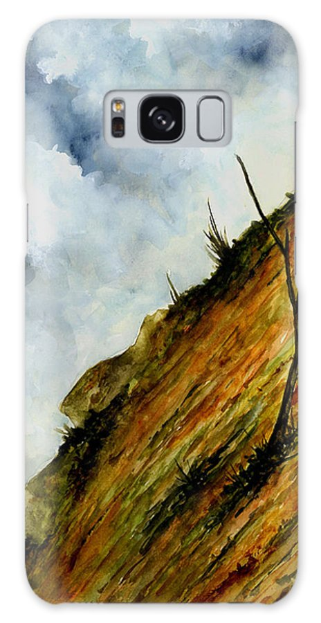 Hill Galaxy S8 Case featuring the painting Steep Slope by Michael Vigliotti