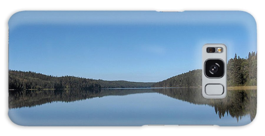Lake Water Steepbanks Trees Still Scenery Forest Hills Galaxy S8 Case featuring the photograph Steepbanks Lake by Andrea Lawrence
