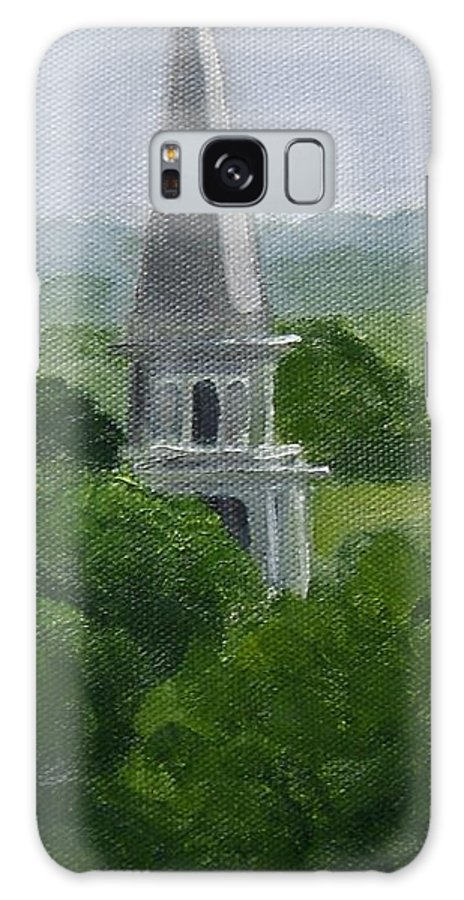 Steeple Galaxy S8 Case featuring the painting Steeple by Toni Berry