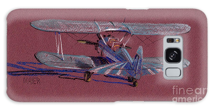 Steerman Biplane Galaxy S8 Case featuring the drawing Steerman Biplane by Donald Maier