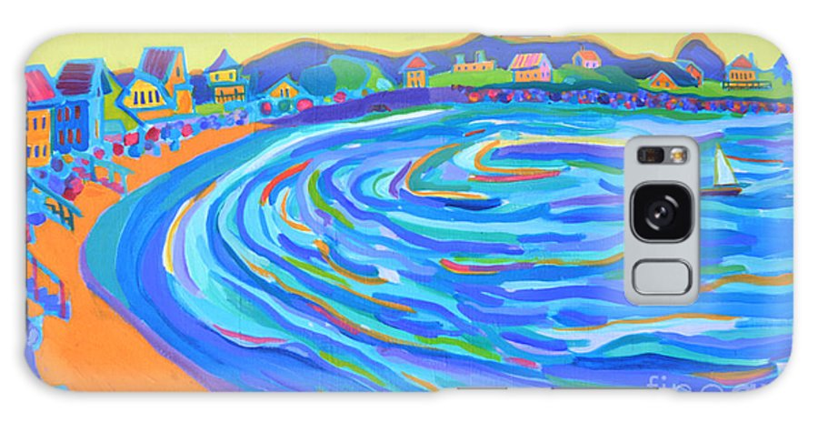 Staircases Galaxy Case featuring the painting Steps to Plaice Cove Beach NH by Debra Bretton Robinson