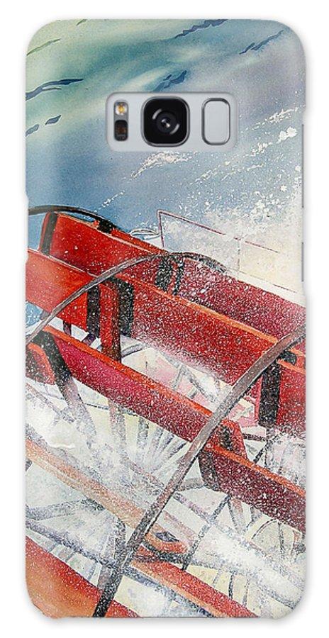 Paddlewheeler Galaxy S8 Case featuring the painting Sternwheeler Splash by Karen Stark