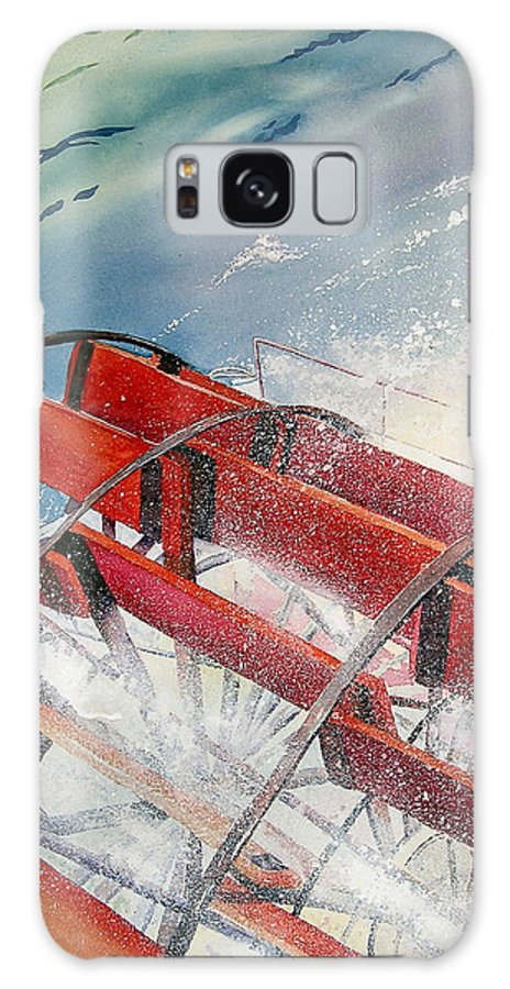 Paddlewheeler Galaxy S8 Case featuring the painting Sternwheeler Splash by Karen Stark