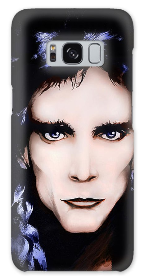 Steve Vai Galaxy S8 Case featuring the painting Steve Vai by Curtiss Shaffer