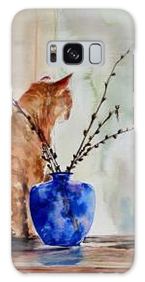 Cat Galaxy S8 Case featuring the painting Still Life by Lynee Sapere