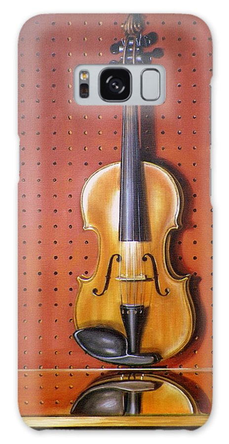 Art Galaxy Case featuring the painting Still Life of Violin by RB McGrath
