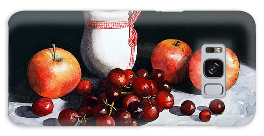 Still Life Galaxy Case featuring the painting Still Life 'preserve Pot And Fruit' by Paul Dene Marlor
